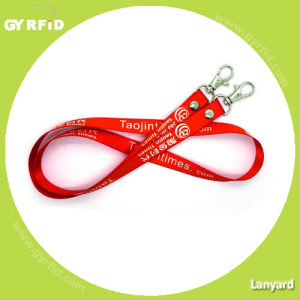 Fabric Lanyard 1.5cm Width, Fine Thread, with Scale Hook (LY1501) pictures & photos