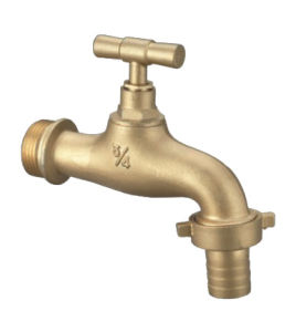 Brass Colour or Chromed Plated Hot Selling Brass Taps pictures & photos
