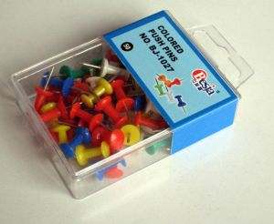 Plastic Colored Push Pins (BJ-1027)