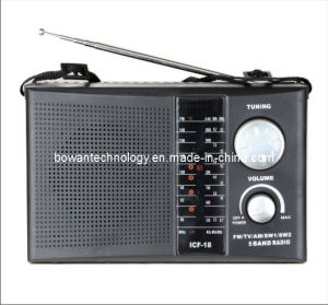 FM/TV/AM/SW1-2 5 Band Radio Receiver (BW-F18)
