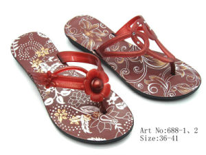 Ladies′ PVC Slipper (688)