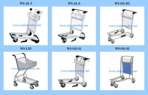 Stainless Steel or Aluminum Airport Luggage Trolley Cart pictures & photos