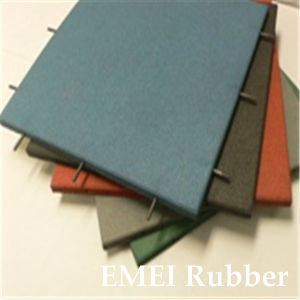 Indoor/Outdoor Pole-Connection Rubber Tile for Playground pictures & photos