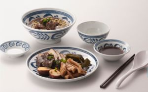 Modern Blue Series Melamine Round Plate (DC13807-07) pictures & photos