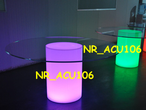 Wedding Acrylic LED Illuminated Commercial Round Table (NR-ACU038)