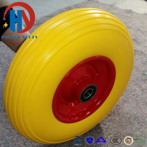 High Quality Flat Free PU Foam Wheel pictures & photos