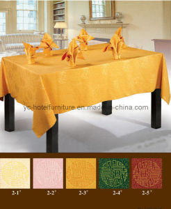 Nice Gold Table Linen Cover (FCX-535) pictures & photos