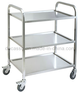 Stainless Steel Hotel Food Service Cart Trolley (DE34) pictures & photos