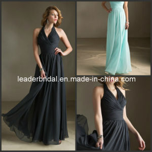 Halter Bridal Wedding Dress Black Blue Cocktail Prom Dress E52724 pictures & photos