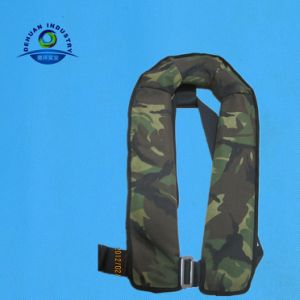 Camouflage Automatic Inflatable Life Jacket with Harness (DH-049)