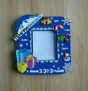 Santa Clause Theme Rubber Photo Frame (ASNY-PF-CZ-168) pictures & photos