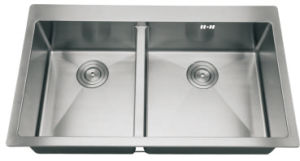 Topmount Double Sink, Stainless Steel Kitchen Sink pictures & photos