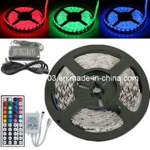 5m 5050 RGB 300LED SMD Flexible Light Strip Lamp with 44key IR and 12V 5A Power Supply (OT-58)