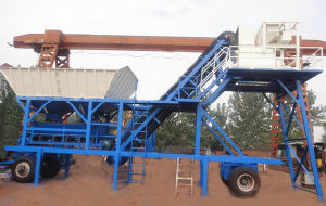 Yhzs25 Mobile Concrete Batching Plant pictures & photos