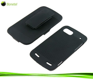 Rubberized Hard Shell Case with Holster for Zte Warp Sequent N861
