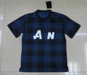 2013/14 City Away Soccer Jersey Dry Fit Embroidered Football Jersey Blue&Black Jersey Soccer Wear pictures & photos