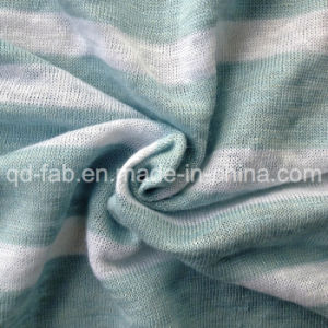 Linen Yarn Dyed T-Shirt Jersey (QF13-0285) pictures & photos