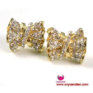 Quality Gold Colour Glass Stone Metal Jewelry Earring