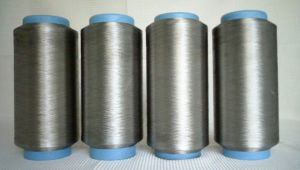 Silver Coated Polyamide Yarn, Silver Fiber, Metallic Yarn, X-Static, Conductive Fiber