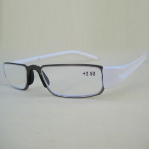 Metal Frame with Injection Temple Reading Glasses pictures & photos