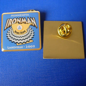 Promotion Offset Print Pin, Ironman Brass Badge (GZHY-OP-002) pictures & photos