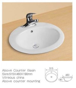 Above Counter Ceramic Washbasin, Ceramic Wash Sinks pictures & photos