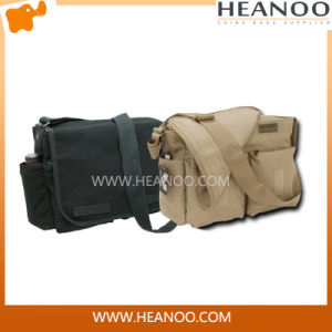 China Wholesale Casual Men Brand Black Canvas Messenger Bags pictures & photos