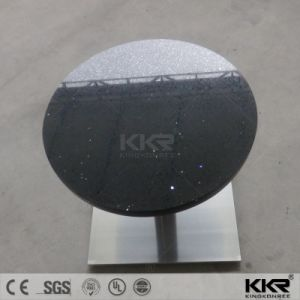 Black Artificial Stone Round Restaurant Table pictures & photos