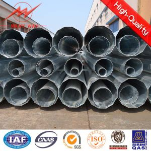9m 500dan Electric Steel Pole with Bitumen for Africa pictures & photos