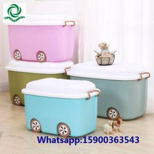 Children′s Cartoon Plastic Toy Storage Box for Baby Clothes pictures & photos