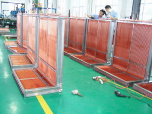 9.52mm Screwed Copper Tube Louvered Fin Commercial Heat Pump Heat Exchanger pictures & photos