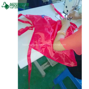 Wholesale High Quality Red Polyester Kitchen Cooking Apron pictures & photos