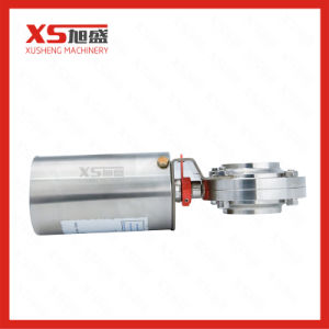 Stainless Steel Sanitary Pneumatic Air-Spring Butterfly Valves pictures & photos