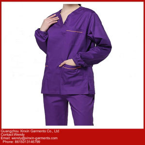 Customized High Quality 100 Cotton Medical Wear (H17) pictures & photos