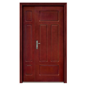 China Manufacturers Fire Rated Wooden Door with Glass pictures & photos