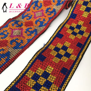 Embroidery Design Ethnic Trim with Tassels pictures & photos