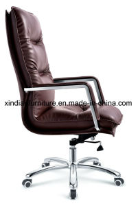 Office Modern Swivel Chair for Boss with Wooden Arm pictures & photos