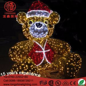 LED 3D Bear Christmas Motif Light Outdoor Decoration pictures & photos