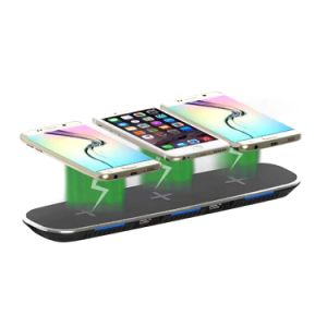 High-End Universal 2A Qi Double Coil Fast Wireless Charger for iPhone X 8 Plus Samsung S8 Edge S7 Mobile Phone pictures & photos