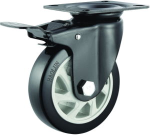 4/5 Inch PVC Rigid Castor Wheels for Trolley (fixed Caster) pictures & photos