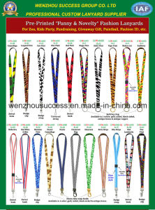 "Pre-Printed ""Funny & Novelty"" Fashion Lanyards pictures & photos"
