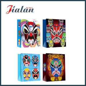 Peking Opera Makeup Custom Logo Printed Wholesales Paper Gift Bag pictures & photos