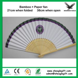 OEM Design Folding Bamboo Hand Fan Customized pictures & photos