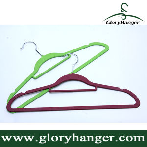 Hot Sale Cheap Velvet Hangers (GLRC01) pictures & photos