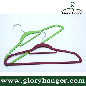 Hot Sale Cheap Velvet Hangers (GLRC01) pictures & photos