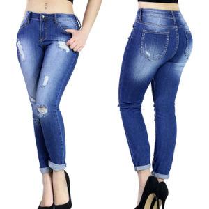 China Fashion Design Women Ripped Skinny Denim Jeans - China Women