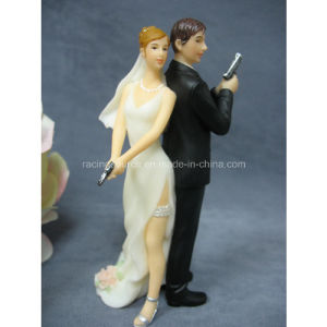 "High Quality Super Sexy Spy"" Wedding Bride and Groom Cake Topper Figurine pictures & photos"