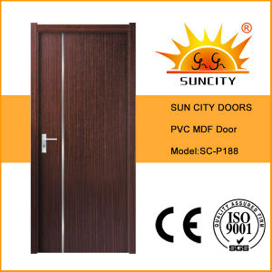 Cheapest Price Wholesale Exotic PVC Wood Doors (SC-P188) pictures & photos