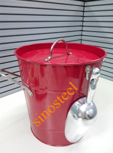 Cooler Wine Ice Bucket with Lid & Scoop pictures & photos