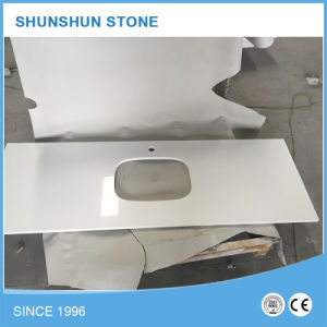 Hot Sell White Artificial Stone Quartz Countertop pictures & photos